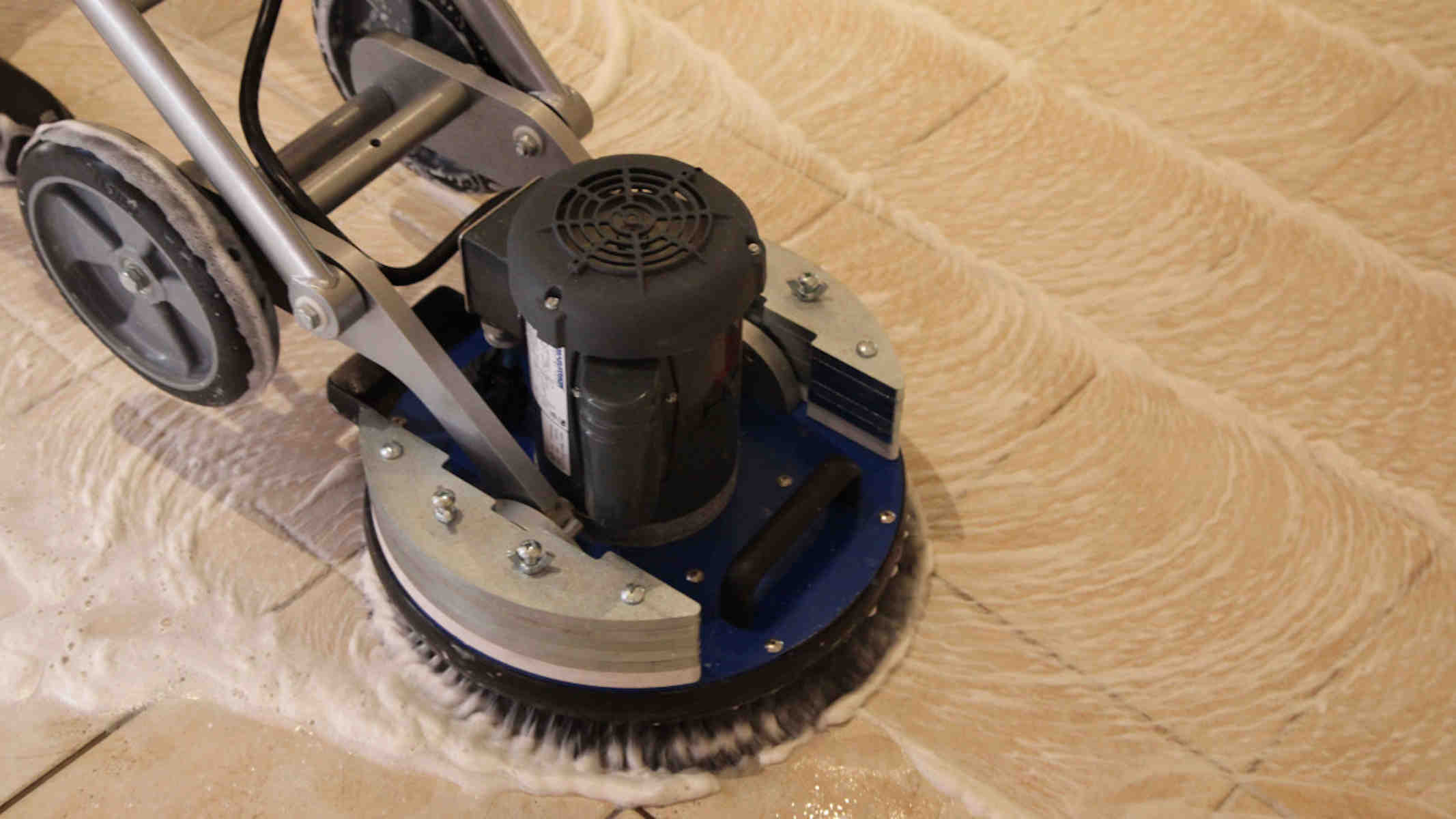 Tile & Grout Cleaning Melbourne - Scrubbing dining room tiles