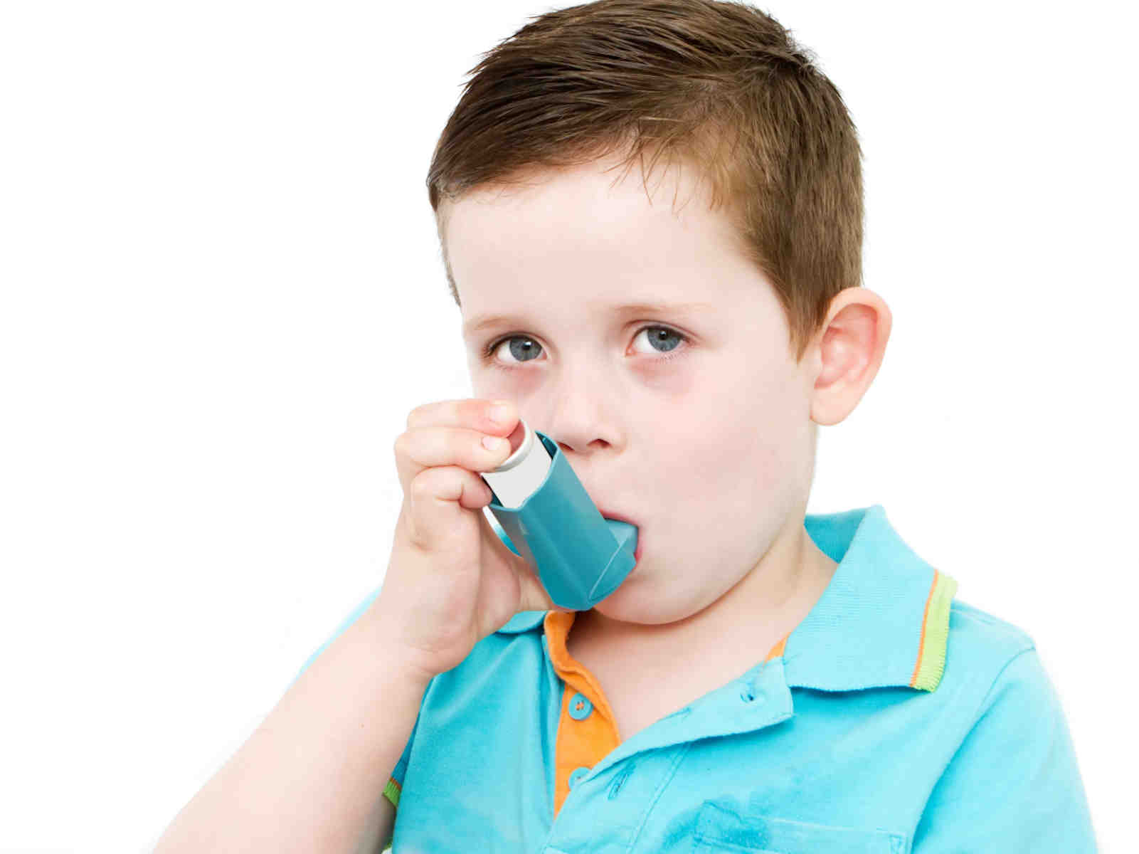 Allergy Relief Treatment - Boy with asthma