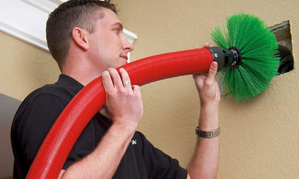 Duct Cleaning - Contact cleaning ducts with brush
