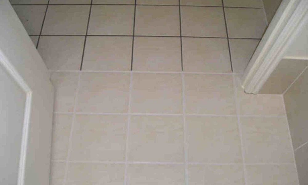 See the difference that colour sealing the grout makes to your old tile floors