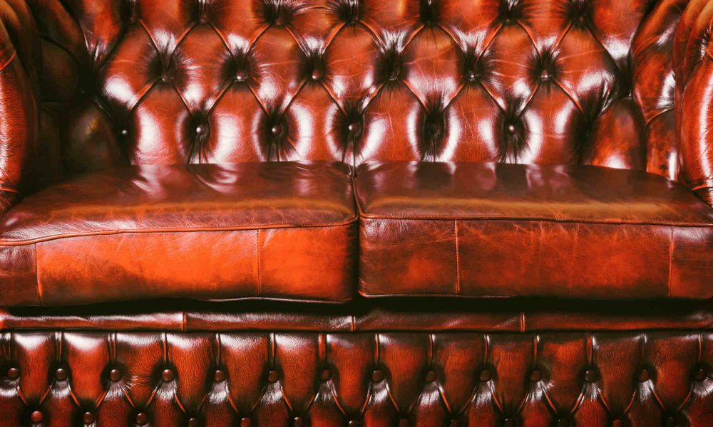 Leather Cleaning - A beautiful Chesterfield couch