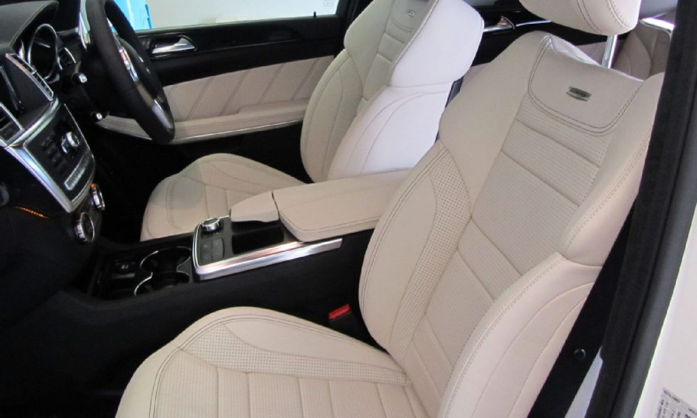 Vehicle Interior Cleaning - Clean and protect Mercedes white leather interior