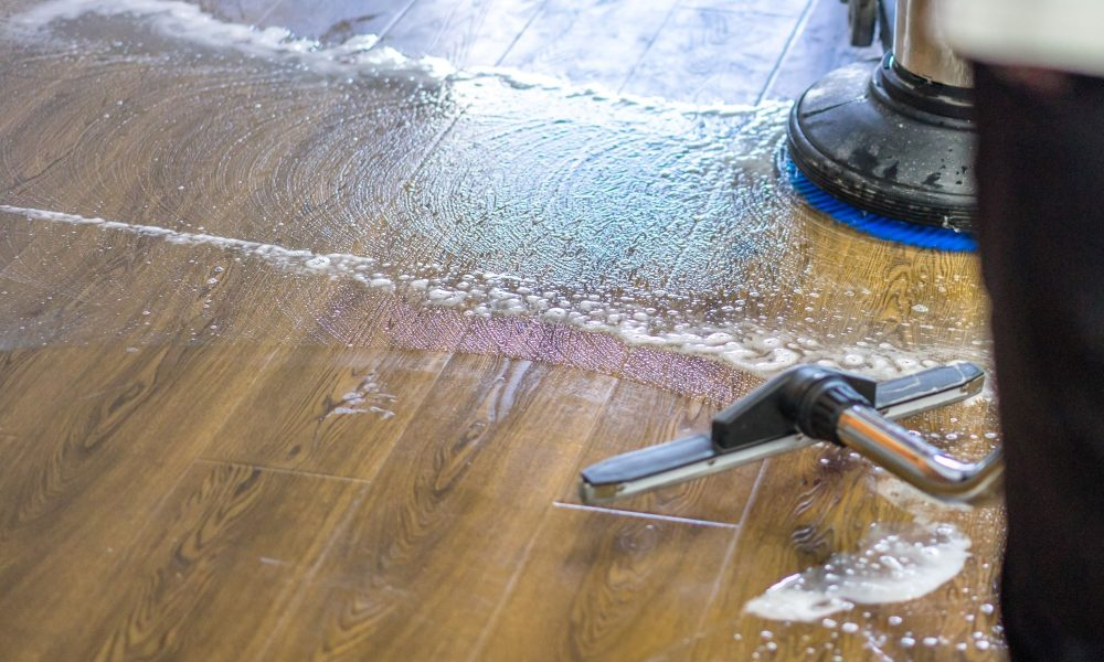 Wood floor cleaning - Grime Fighters Cleaning
